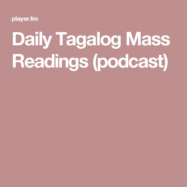 Daily Tagalog Mass Readings (podcast)
