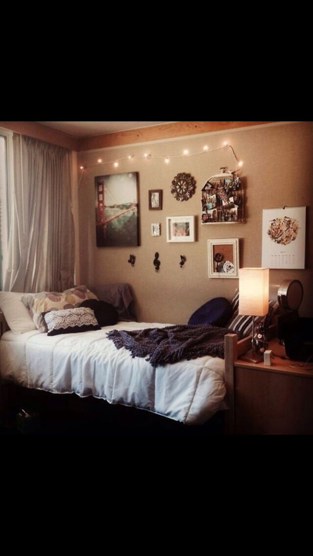 nice college apartment bedroom decorating ideas | 196 best images about Neutral Dorm Room on Pinterest ...