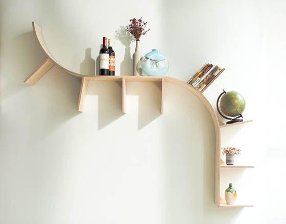 curved creative shelving ideas