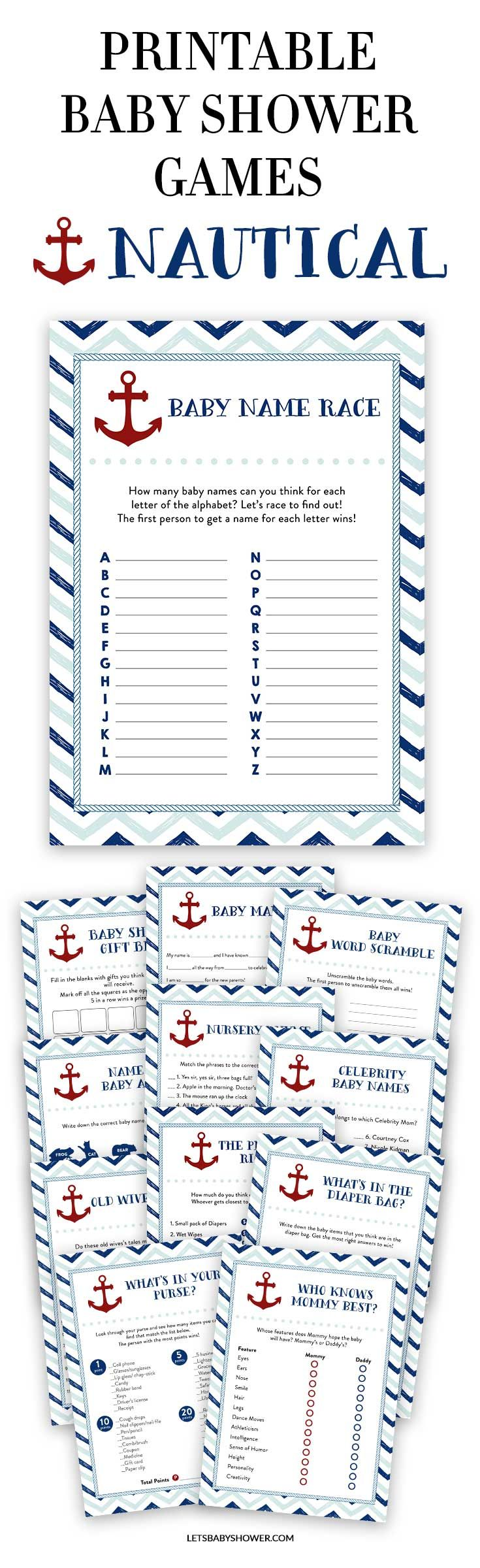 Looking for a Baby Shower theme for boys? Here's one of the baby shower ideas your guests will surely enjoy. Nautical Baby Shower Games for Boys