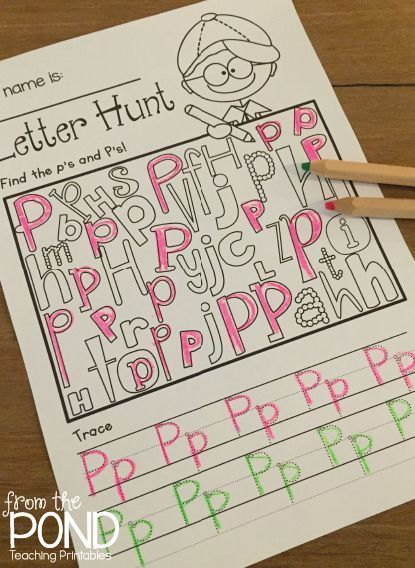 FREE Letter Hunt Worksheet {Let's Learn the Alphabet}
