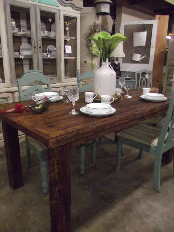 Barn wood Dinning Table Farm house table by SouthernBarnDesigns