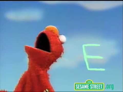 Sesame Street Elmo Everything about the letter  E!