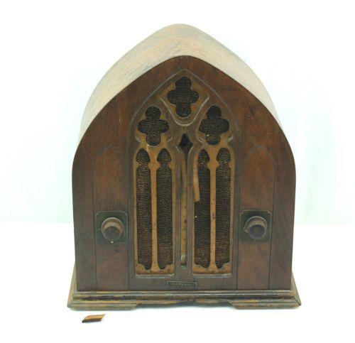 1930s Vintage St Regis Cathedral Radio International Radio