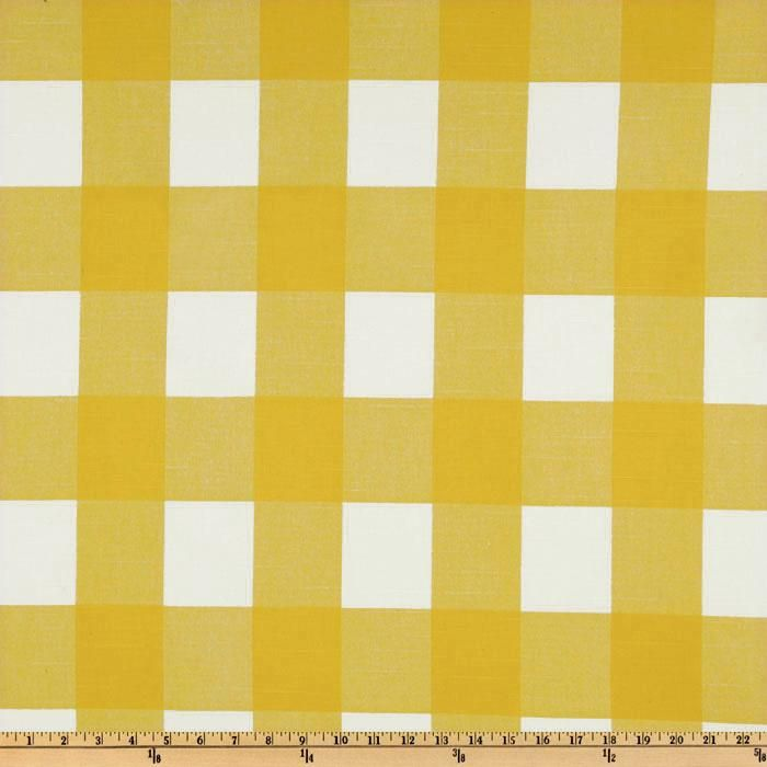 Premier Prints Anderson Check Slub Yellow/White from @fabricdotcom  Screen printed on cotton slub duck (slub cloth has a linen appearance); this versatile medium weight fabric is perfect for window accents (draperies, valances, curtains and swags), accent pillows, duvet covers, upholstery and other home decor accents. Create handbags, tote bags, aprons and more. *Use cold water and mild detergent (Woolite). Drying is NOT recommended - Air Dry Only - Do not Dry Clean. Colors include corn ...