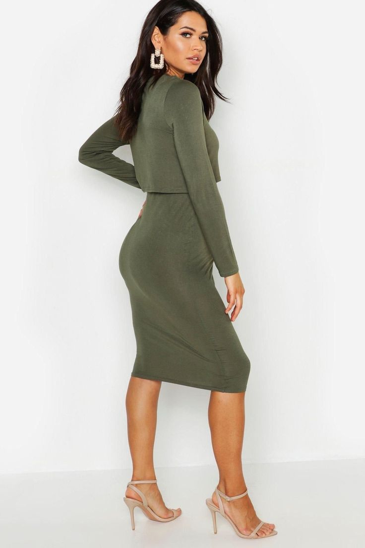 Charcoal Grey 3/4 Sleeve Fitted Maternity Dress   Fitted