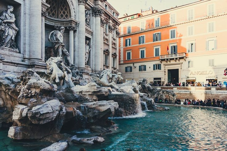 Trevi Fountain is the largest baroque fountain in the Rome, and it is a tradition to throw coins in to make a wish