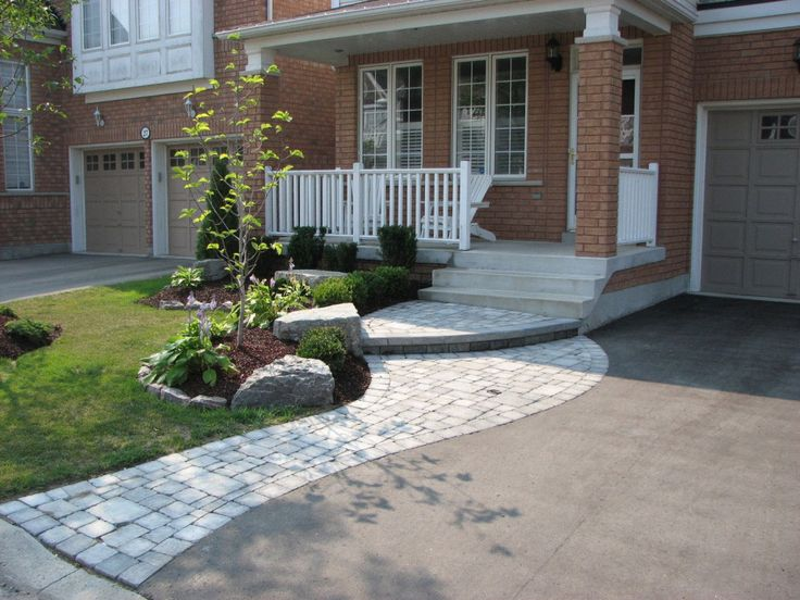 drive entrance designs | Birk's Landscaping - Design and Build Landscaping for the Durham ...