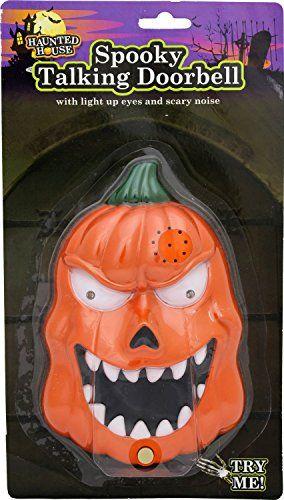 Decorating Ideas > Haunted House Spooky Talking Halloween Doorbell With  ~ 084113_Halloween Doorbell Sounds