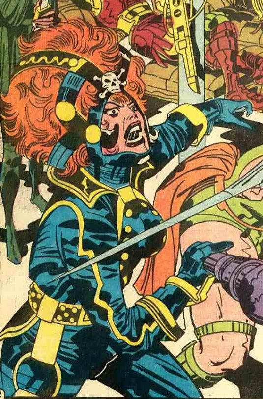 Female Fury from Mister Miracle #8 by Jack Kirby and Mike Royer