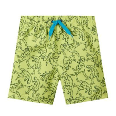 bluezoo Boy's lime dino swim shorts- at Debenhams.com
