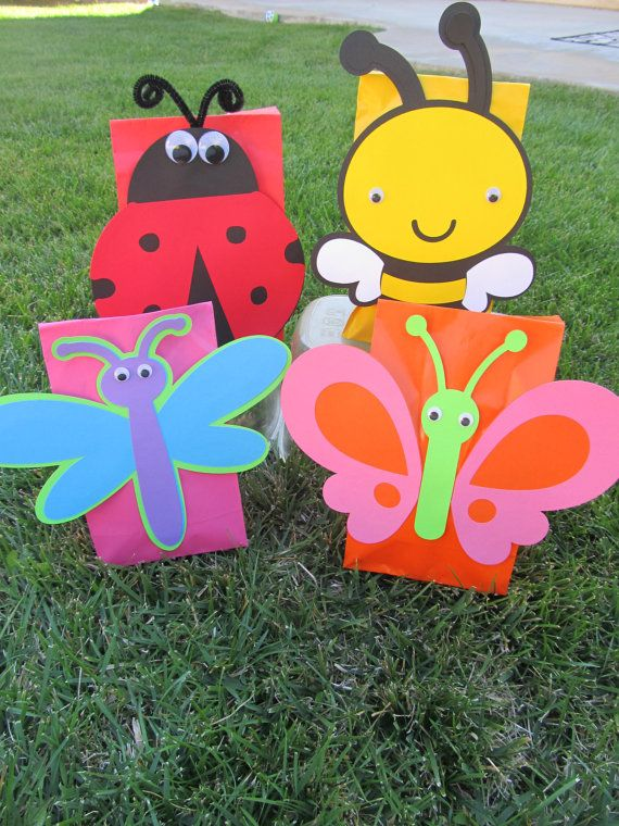 Bug Butterfly  Ladybug Bee Party Goody Bags 10 count