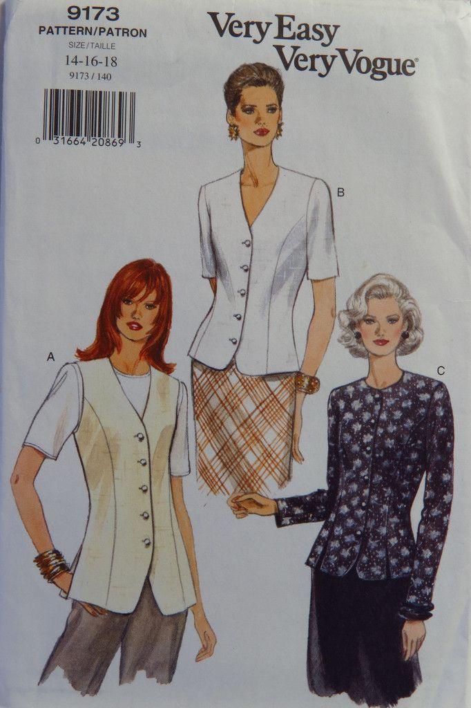 134 besten Vogue Women\'s/Misses\' Sewing Pattern Collection Bilder ...