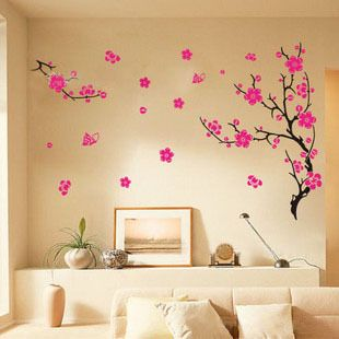 free shipping !!! 45*60CM low cheap  Flowers Removable wall Vinyl stickers Decal Art DIY Wall  Sticker -in Wall Stickers from Home  Garden on Aliexpress.com $3.45