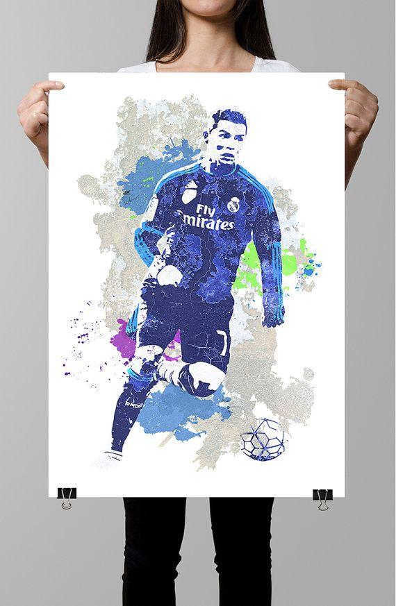 Cristiano Ronaldo Real Madrid Soccer/Football by GoFigureArtStudio