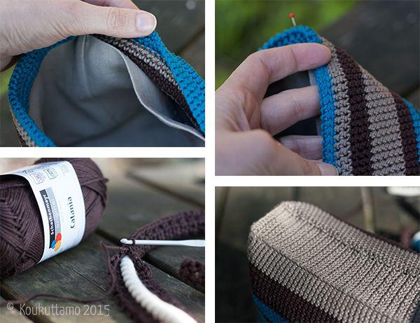 Crocheted hand bag | Virkattu kesäkäsilaukku | Koukuttamo