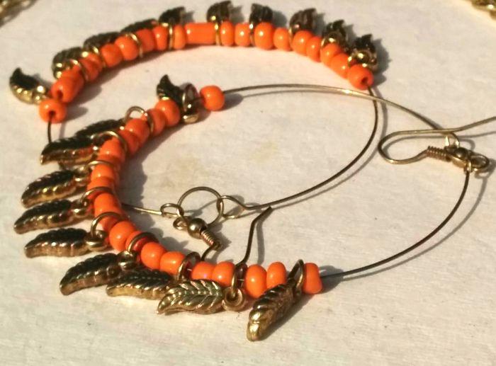 Tangerine Hoops Love is Bright Available at Sharmila Ahuja KRISNAA
