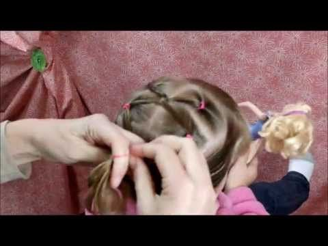 Twist Link Hairstyle For Gymnastics and Girls video tutorial