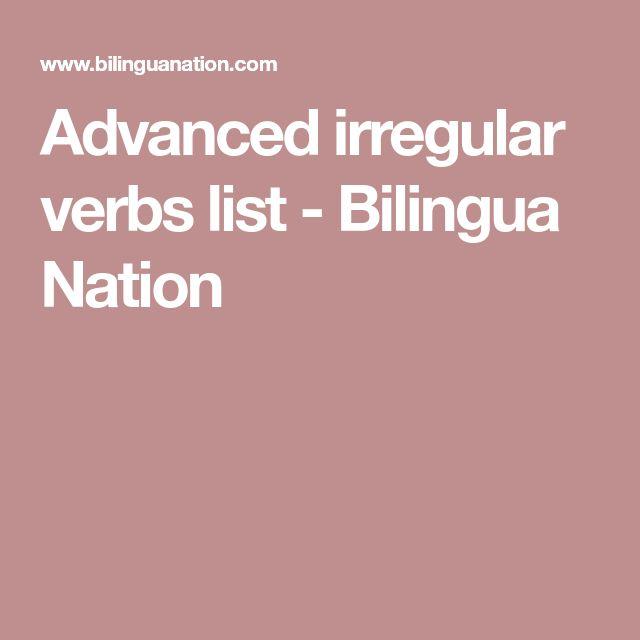 advanced irregular verb list pdf