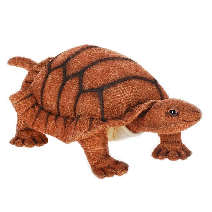 Realistic Stuffed Animals | Hansa Plush Realistic Stuffed Animal - Adult Turtle