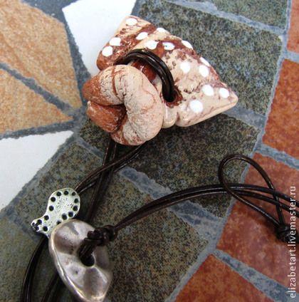 "Аромакулон "" Мешочек"" - Кулон ручной работы,керамика ручной работы,керамические украшения"