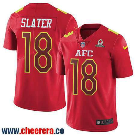 ... Line Gold Collection NFL Mens New England Patriots 18 Matthew Slater  Red AFC 2017 Pro Bowl Stitched NFL Nike ... 0328f917f