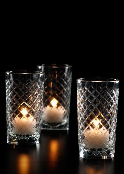 Cut Glass Votive Holders, Set of 6 - Serene Spaces Living