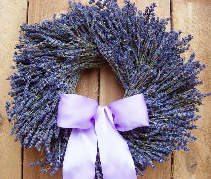 Herbstkranz Ideen - Attraktive Inspiration aus Lavendel