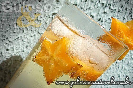 Drink de Carambola e Cidra sem Álcool
