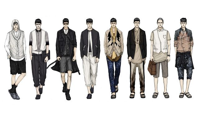 Fashion Illustrator Mengjie Di: New Work for Stylesight SS13 Men`s Trend