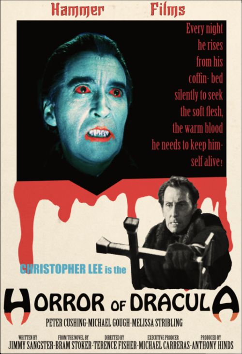 The Horror of Dracula....Christopher Lee, my fave Dracula :) There is just something shivery about the old horror movies.