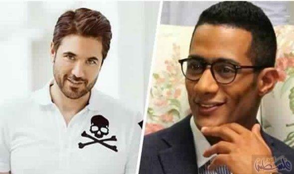محمد رمضان وأحمد عز ي سارعان الزمن م ن أجل اللحاق بموسم رمضان Square Sunglasses Men Mens Sunglasses Square Sunglasses