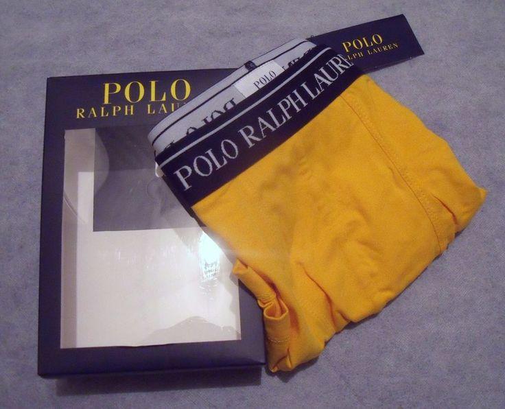 Polo Ralph Lauren Mens Yellow Designer Boxer Underwear-Size Medium/Gift for him  | eBay