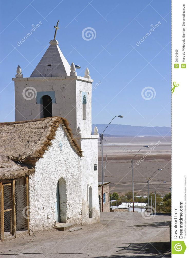 Pre-Columbian Church in the town of Peine, next to the Atacama desert in Chile