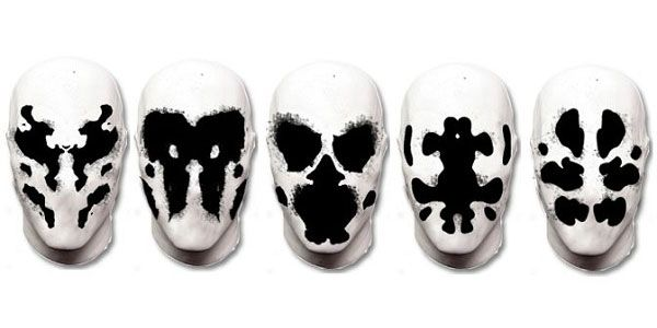 Moving Rorschach Inkblot Masks based on Watchmen Comics