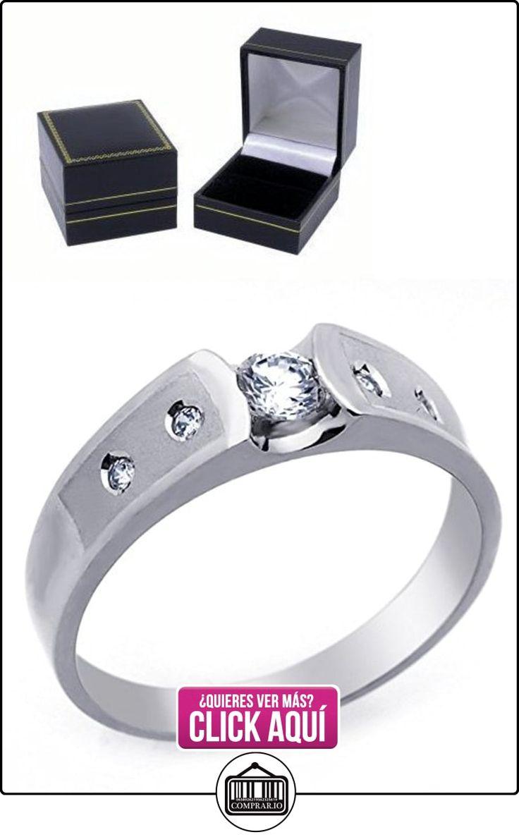 Pequeños Tesoros - Anillo de hombre - Anillo de compromiso y boda de oro 0.3ct Circonita Oro blanco  ✿ Joyas para hombres especiales - lujo ✿ ▬► Ver oferta: https://comprar.io/goto/B00BBD9QZ0