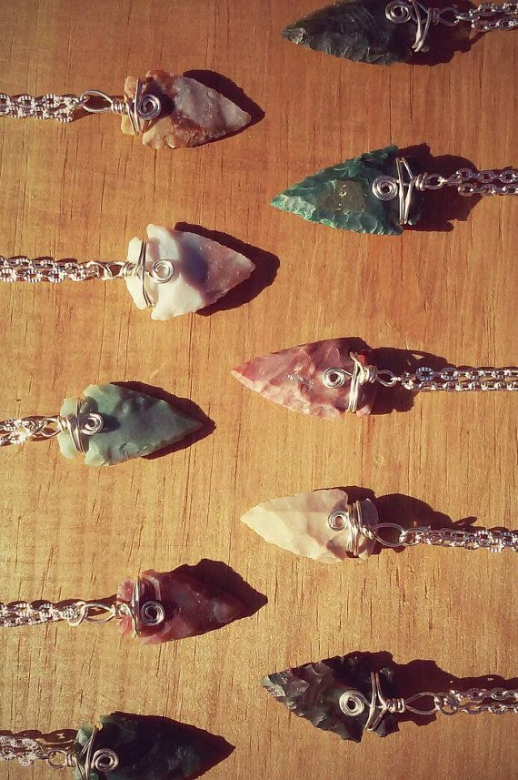 Mystery Arrowhead Necklace Unique and One of by PazHappyCreations