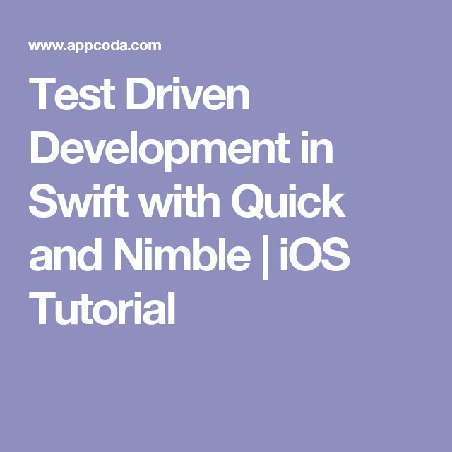 Test Driven Development in Swift with Quick and Nimble | iOS Tutorial
