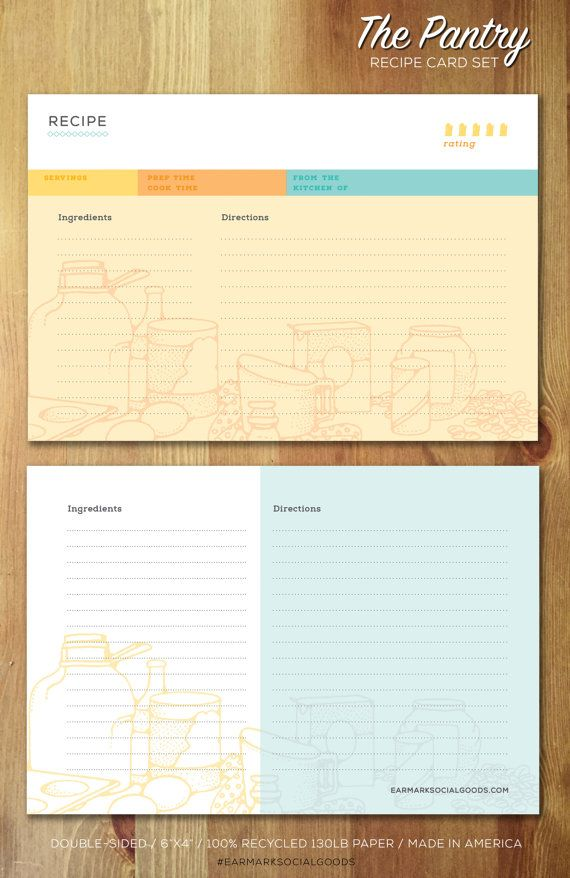84 best recipe cards images on pinterest printable recipe cards 12 pantry 4x6 recipe cards in muslin bag 100 recycled ultra heavyweight double sided forumfinder Gallery