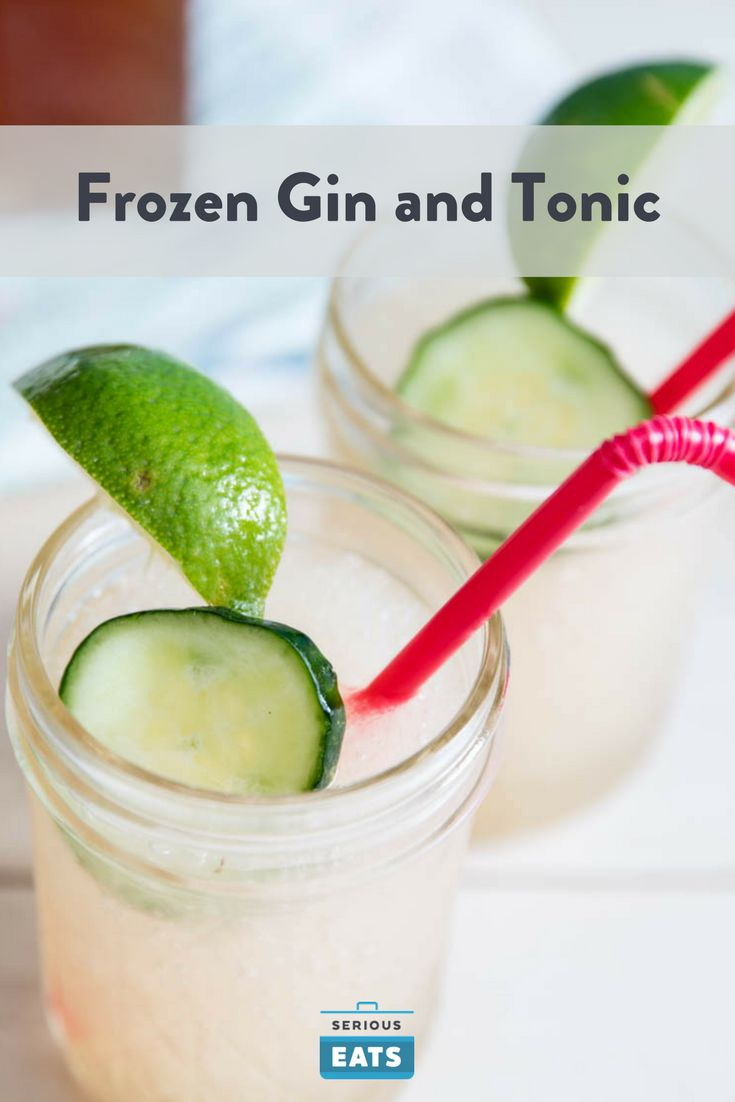 Your G&T is even better in the blender.