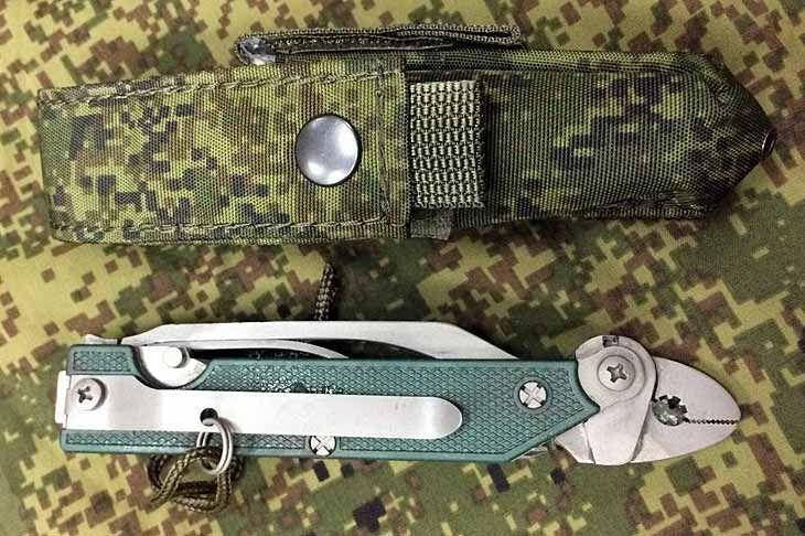Складной универсальный нож 6Э6 из комплекта экипировки «Ратник»