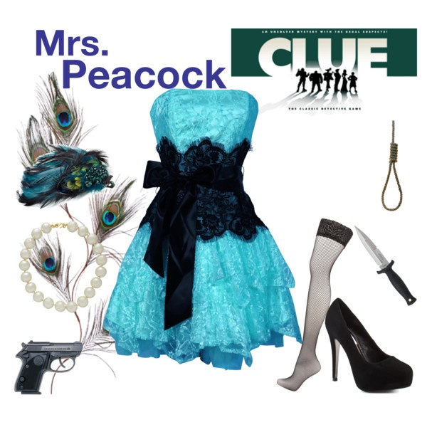 Mrs. Peacock, created by vicktorina on Polyvore