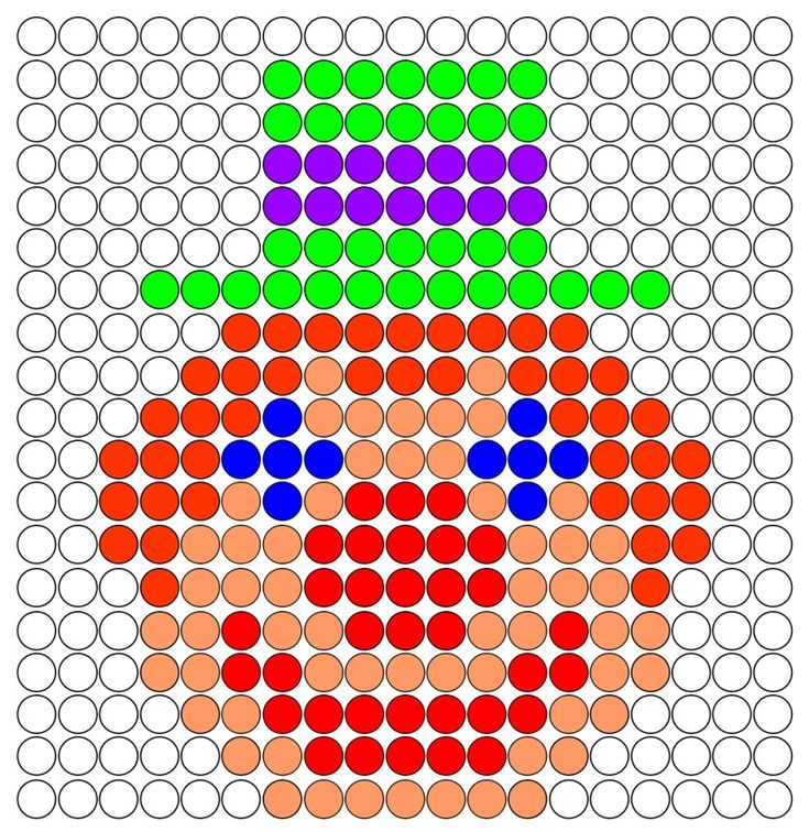 Clown hama perler beads pattern