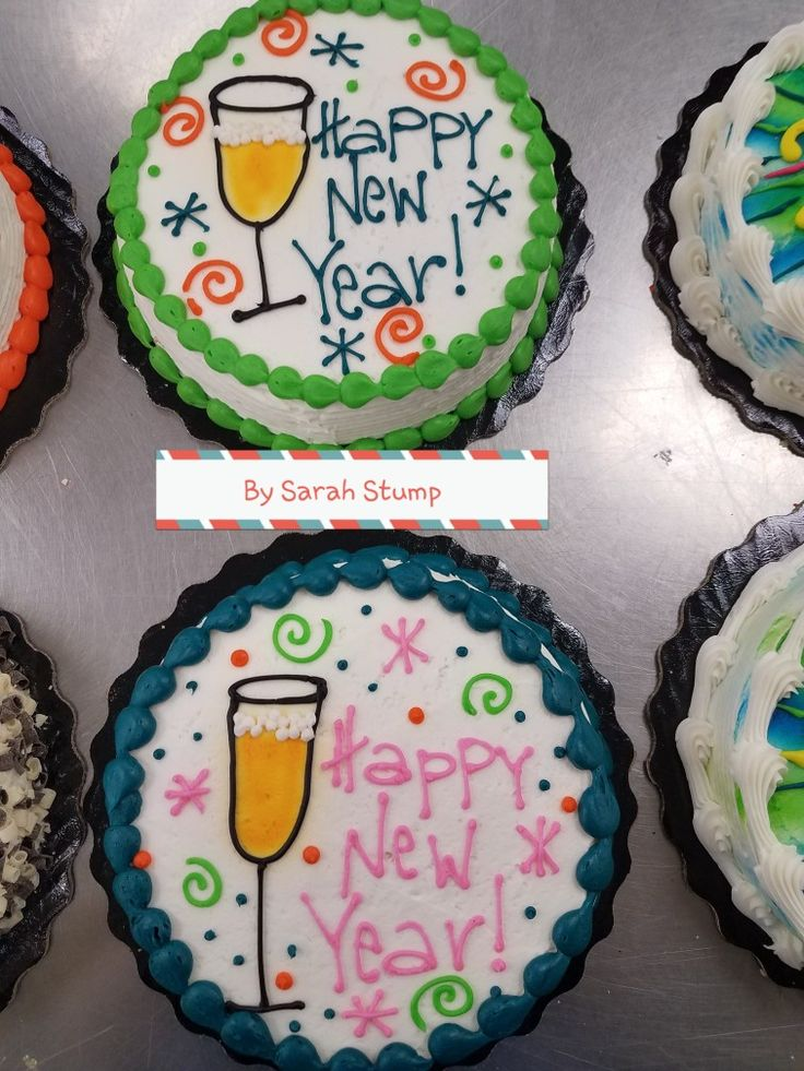 Champagne flute new years eve cake- buttercream by Sarah Stump