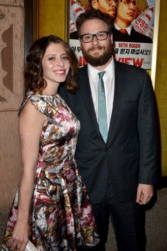 Seth Rogen and Lauren Miller-Rogen at an event for The Interview (2014)