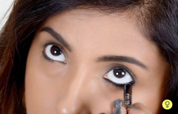 How To Apply Kajal - Step 2: Line The Outer Corner Of Eye With Kajal Pencil
