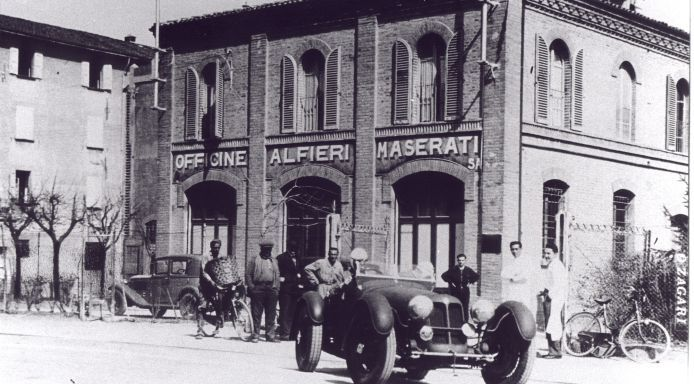 """Officine Alfieri Maserati"", Maserati's first workshop was located in the Via de' Pepoli in Bologna (Italy)"