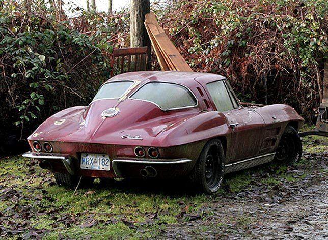 1963 Corvette Abandoned Cars Corvette Cool Cars