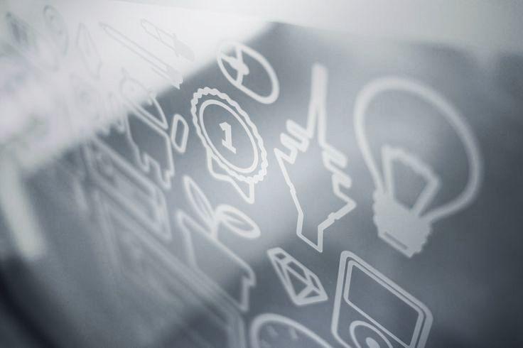 appcom marketing & interactive   glass door decals   office interior design   icons   wellcome