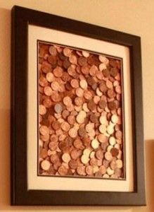 penny craft..in remembrance of pennies in Canada....and to get rid of the sandwich bags of pennies without rolling them